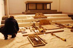 Puzzle-Teile für den Jesus-Altar der Thomaskirche. Foto: Ralf Julke