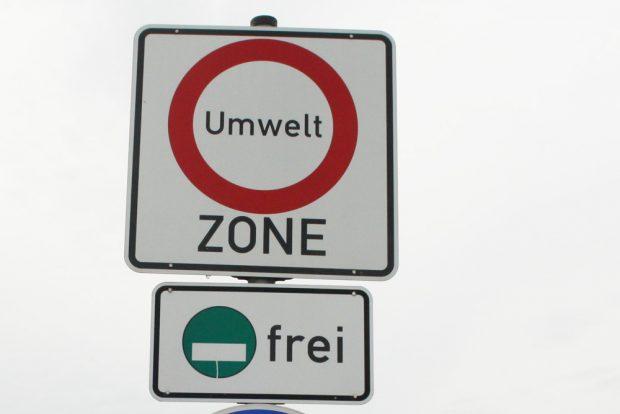 Einfahrt in die Leipziger Umweltzone. Foto: Ralf Julke