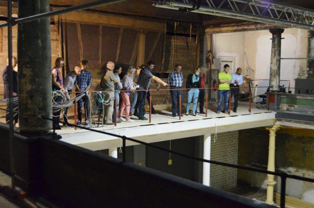 Das neue Verbindungsteil der Galerien im großen Saal. Foto: Schaubühne, Thilo Mißler