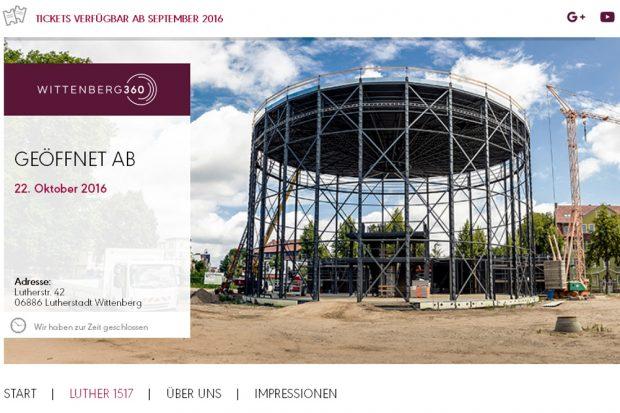 "Website ""Wittenberg 360"". Screenshot: L-IZ"