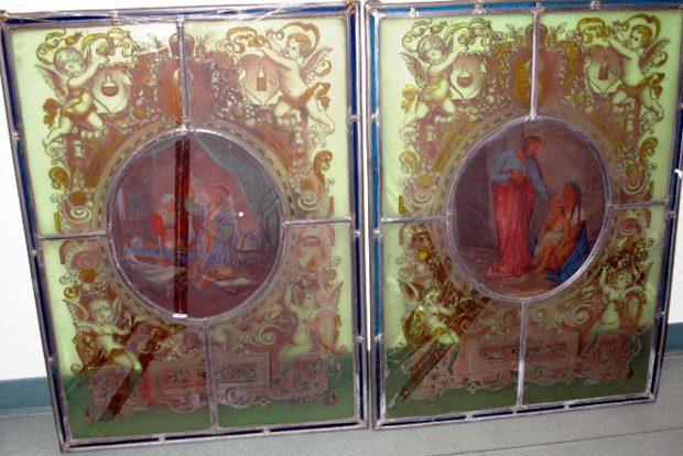 Bleiglasfenster (teilweise beschädigt). Foto: PD Leipzig