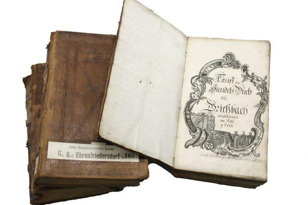 Sächsische Gerichtsbücher. Foto: Staatsarchiv Leipzig