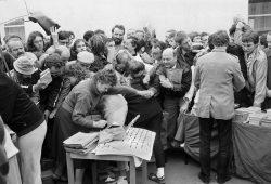 Gerhard Hopf - Leipziger Buchmarkt 1986. Foto: Lehmstedt Verlag