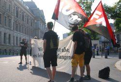 Demonstration für Gefängnisinsassen vor dem Amerikanischen Konsulat. Foto: René Loch
