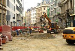 Käthe-Kollwitz-Straße 2012: Da wurde die Haltestelle gebaut. Foto: Ralf Julke