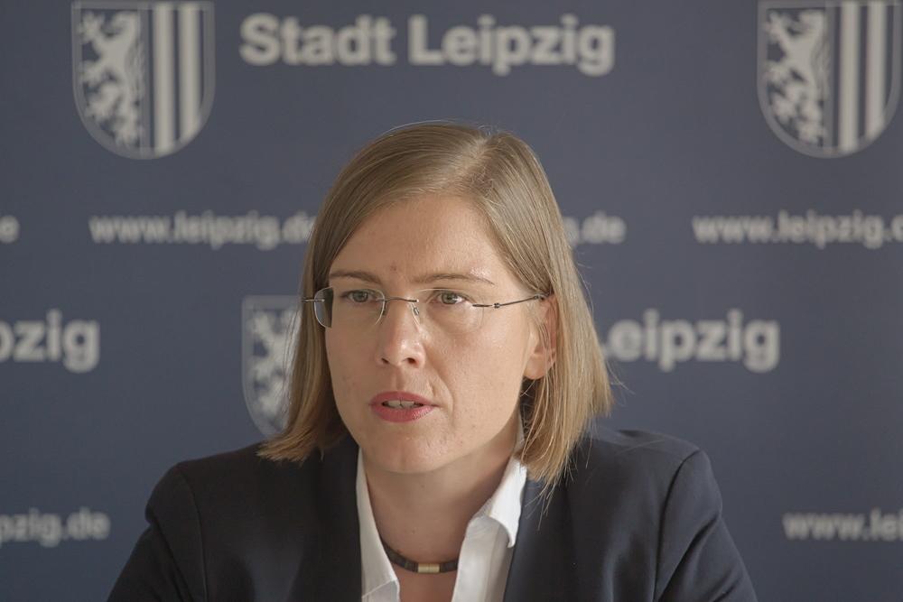 Kulturbürgermeisterin Skadi Jennicke im Pressegespräch. Foto: Alexander Böhm
