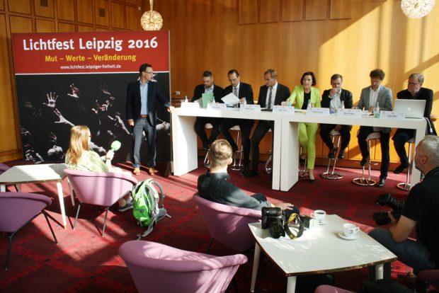 Pressekonferenz zum Lichtfest 2016. Foto: Ralf Julke