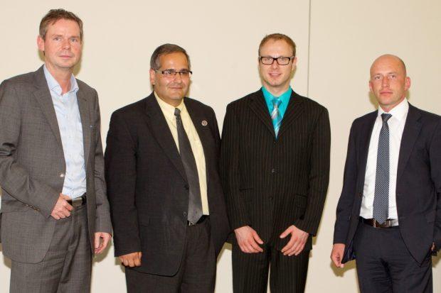 Mieth gehört seit 2013 dem sogenannten Arbeitspräsidium an. (v.l: Kesseler, Gruschka, Mieth und Spauke - 2015 ausgeschieden). Foto: Bernd Scharfe
