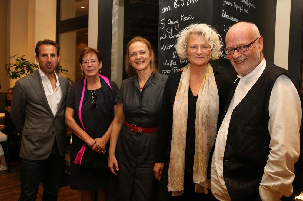 Tom Maasen (Niederländische Botschaft), Ellis Driessen (Netherlands Film Fund), Brigitte Brück (Stadt Leipzig), Doreen Boonekamp (Netherlands Film Fund), Manfred Schmidt (MDM). Foto: MDM