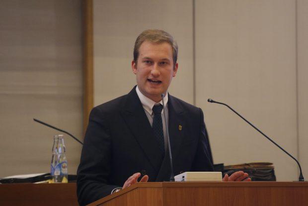 Durchaus Aussicht auf den Titel jüngster Bundestagsabgeordneter aus Leipzig. Michael Weickert (im Stadtrat Leipzig). Foto: L-IZ.de