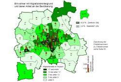 Leipziger mit Migrationshintergrund 2015. Karte: Stadt Leipzig, Quartalsbericht II / 2016
