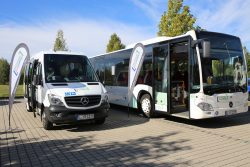 Die neuen Busse für das Stadt- und das Überlandangebot im neuen Netz. Foto: Pressestelle Landkreis Leipzig