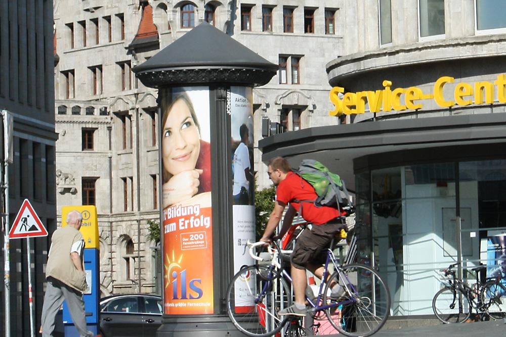 Radfahrer in der Innenstadt. Foto: Ralf Julke