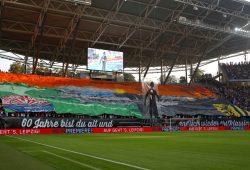 Choreographie der Leipziger Fans. Foto: Alexander Böhm
