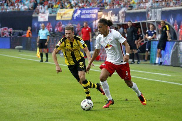 Trotz Chancen bringen die Leipziger keinen Ball in das Dortmunder Tor. Foto: Alexander Böhm