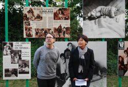 Kurator Jan Wenzel und Taro-Forscherin Irme Schaber bei der Wiedereröffnung der Ausstellung. Foto: René Loch