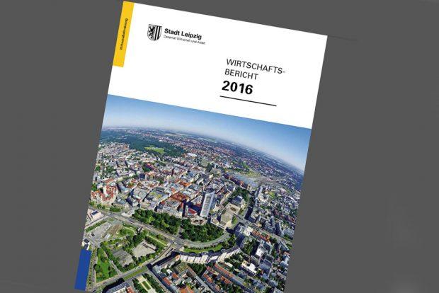 Wirtschaftsbericht 2016. Cover: Stadt Leipzig