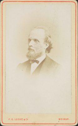 Albert von Zahn, um 1870, Fotografie Lucke, F. E. & Co. Weimar, Klassik Stiftung Weimar, Graphische Sammlungen
