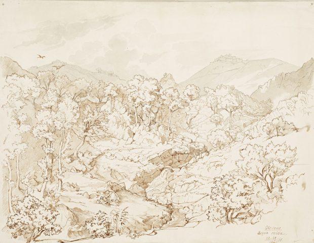 Albert von Zahn: Olevano, Acqua calda, 1866. Copyright: Museum der bildenden Künste Leipzig