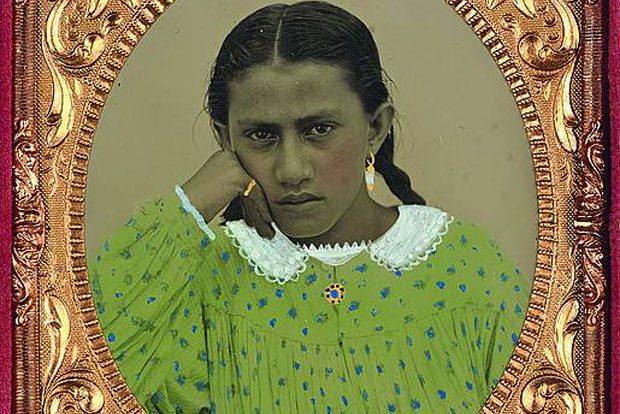 Andrew Garrett: Dreizehnjähriges Mädchen, Name unbekannt, Tahiti, 1863-1869