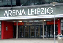 Eingang zur Arena Leipzig. Foto: Ralf Julke