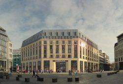 Das künftige Hotelgebäude am Burgplatz. Foto: Petersbogen Burgplatz GmbH