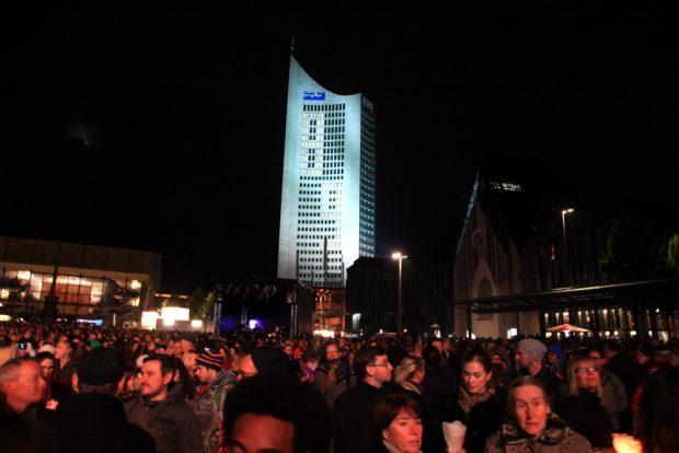 Das bekannte Panorama in Leipzig zum 9. Oktober. Foto: L-IZ.de