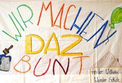 """Transparent zur Aktion """"Wir machen DAZ bunt!"""""""