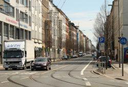 Eisenbahnstraße im Leipziger Osten. Foto: Ralf Julke