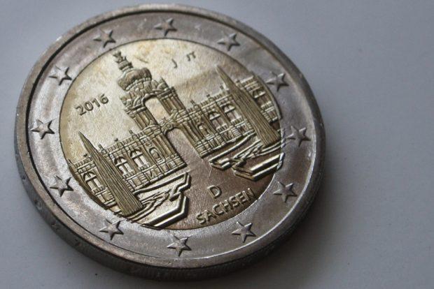 Schöner Sachsen-Euro. Foto: Ralf Julke