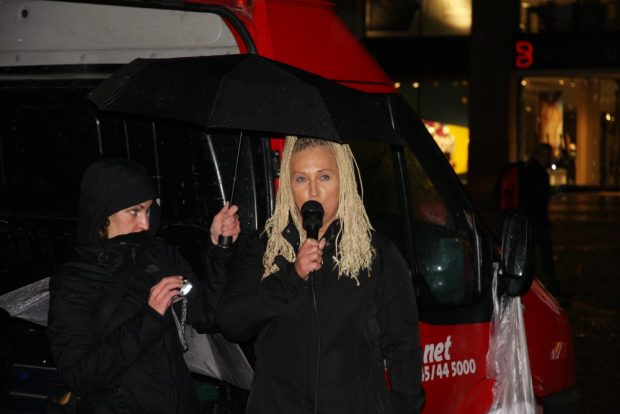 Irinia Kokot (SPD & Leipzig nimmt Platz) bei ihrer Ansprache. Foto: L-IZ.de