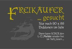 Noch 90 Freikäufer gesucht, dann kann der Melder wieder geöffnet werden. Bild: L-IZ.de