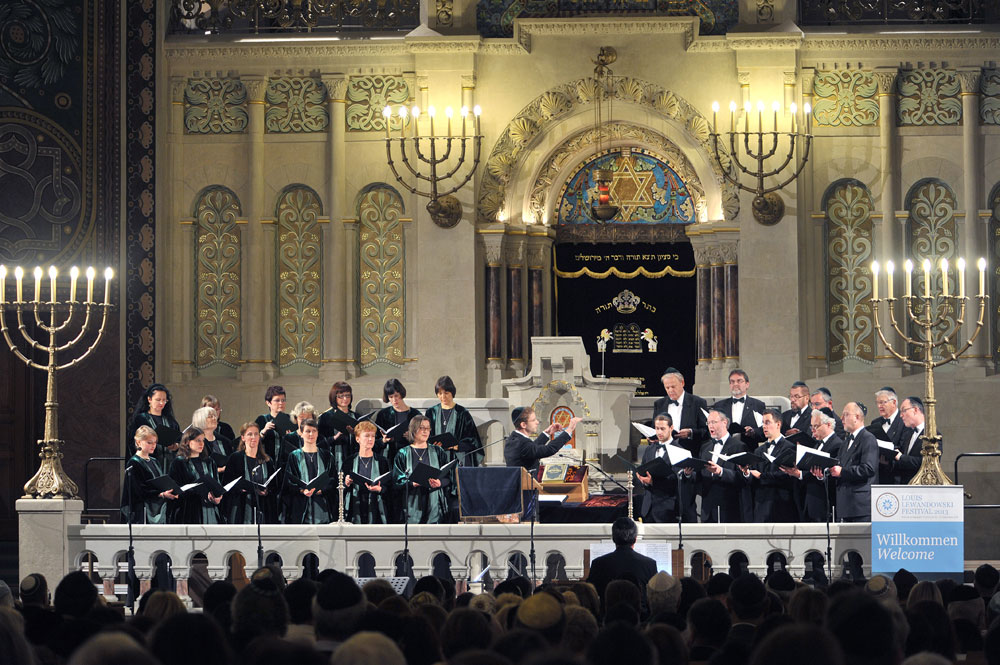 Leipziger Synagogalchor in der Synagoge Rykestraße Berlin. Foto: Rolf Walter