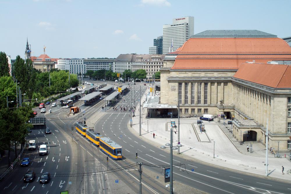 LVB-Haltestelle am Hauptbahnhof. Foto: Ralf Julke