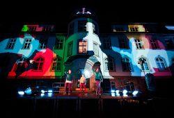 """Zur """"phänoMEDIA"""" präsentiert sich die Fakultät in den schillerndsten Farben. Foto: Martin Ludewig/HTWK Leipzig"""