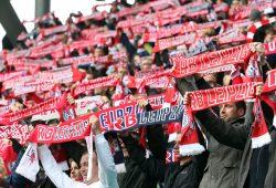 Die Fans jubeln im ausverkauften Stadion. Foto: GEPA pictures