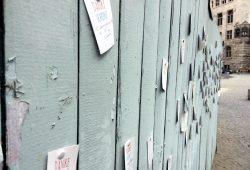 Was immer man draus macht. Ein Zaun als Medium. Foto: L-IZ.de