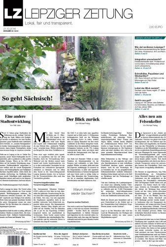 Der Titel der aktuellen Ausgabe. Dies und noch mehr gibt es in der aktuellen LZ Nr. 36. Screen LZ