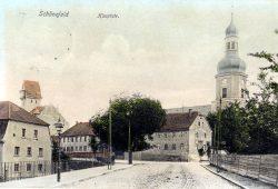 Die Hauptstraße von Schönefeld um 1900 herum. Foto: Stadtarchiv Leipzig