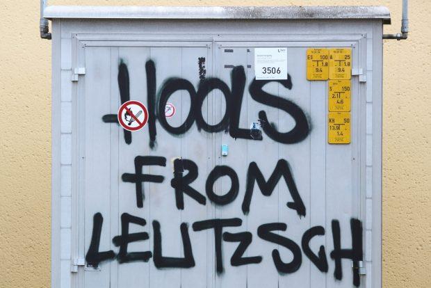 English speaking Hooligans im Umfeld in Leutzsch. Foto: L-IZ.de