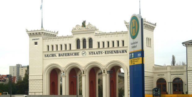 Das Portal des Bayrischen Bahnhofs. Foto: Ralf Julke