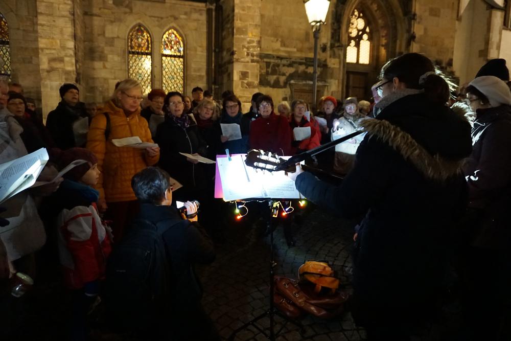 Bürgersingen im Advent 2015. Foto: Stiftung Bürger für Leipzig