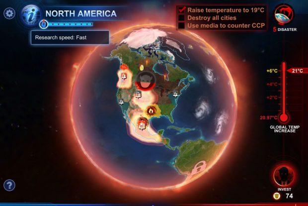 Ordentlich verheizt: Nordamerika im Jahr 2036. Screenshot: Virtuos Games