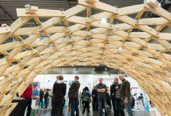 Das Zollinger-Dach auf der denkmal-Messe 2016. Foto: Leipziger Messe GmbH/Tom Schulze