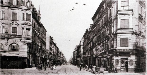 Die Eisenbahnstraße um 1904. Bild / Postkarte von Harald Stein