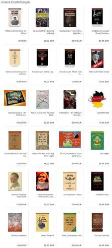 """Beeindruckende Sammlung an """"Empfehlungen"""" des Schelm Verlages. Screenshot Schelm Verlag"""