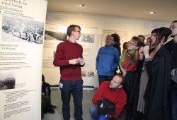 """Eröffnung der Ausstellung """"Im Provisorium. NS-Zwangsarbeit in Leipzig und beim Rüstungskonzern HASAG"""". Foto: Gedenkstätte für Zwangsarbeit Leipzig"""