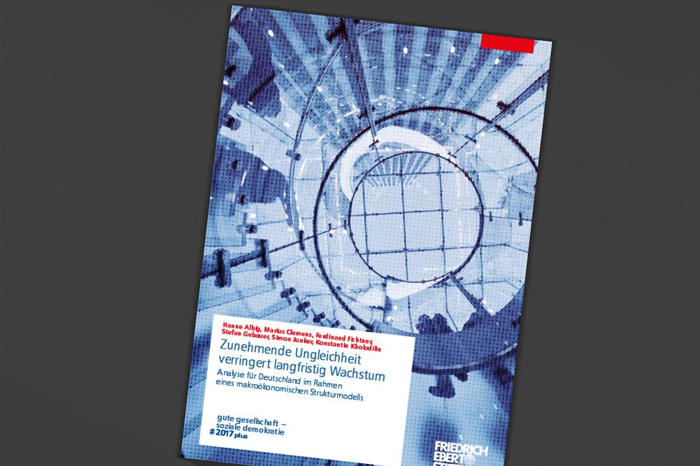 """FES-Studie """"Zunehmende Ungleichheit verringert langfristig Wachstum"""". Cover: FES"""