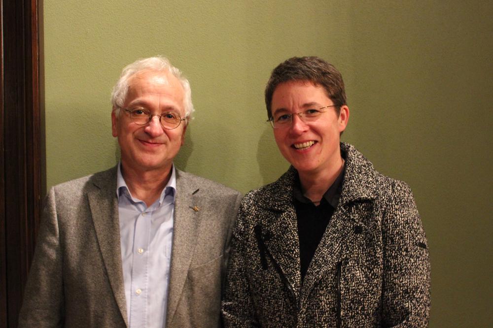 Übergabe Vorstandsvorsitz – Christian Wolff und Britta Taddiken. Foto: forum thomanum Leipzig e.V.
