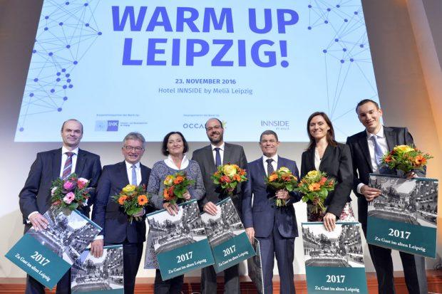 Die Jurymitglieder: v.l.n.r. Markus Geisenberger, Prof. Dr. Manfred Kirchgeorg, Marit Schulz, Michael Kunze, Andreas Koch, Rita Löschke, Philipp Rothkegel. Foto: Marketing-Club Leipzig e.V.